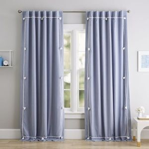 Pottery Barn Solid Classic Tassel Blackout Curtain